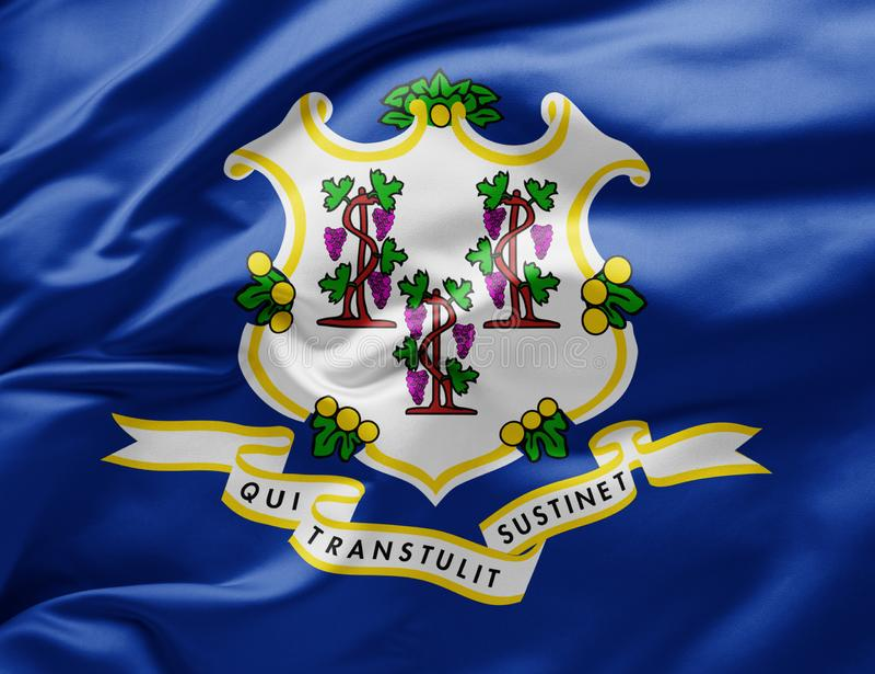 Bandiera dello Stato d'onda del Connecticut - Stati Uniti d'America immagine stock
