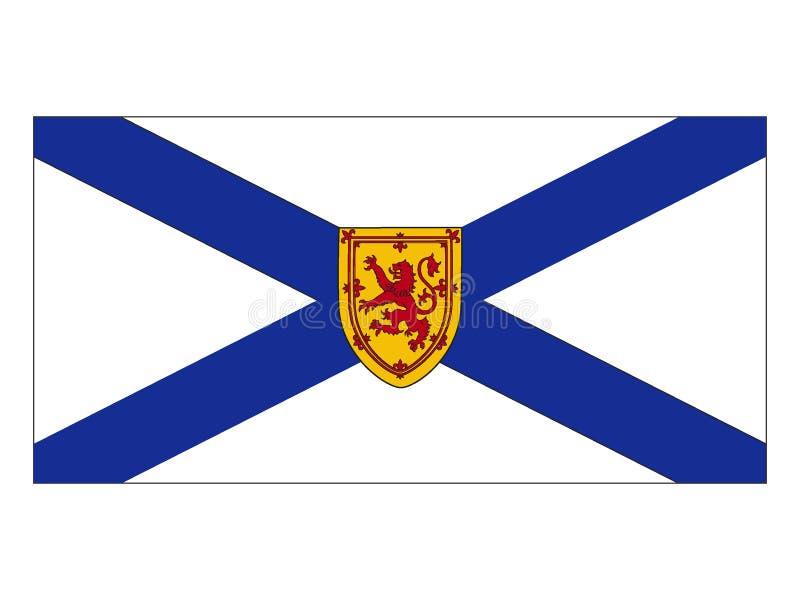Bandiera dello stato del Canada di Nova Scotia illustrazione vettoriale