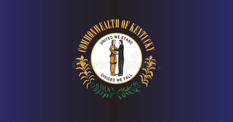 Bandiera dello stato del Kentucky royalty illustrazione gratis