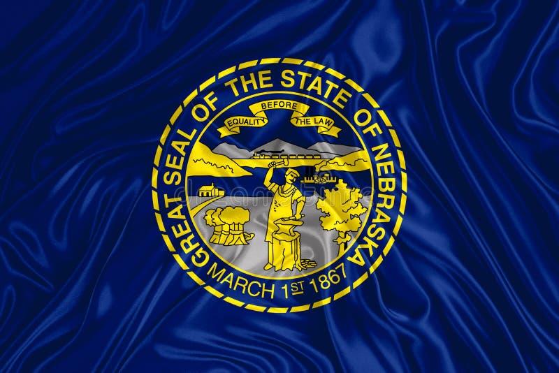 Bandiera dello stato del Nebraska illustrazione vettoriale