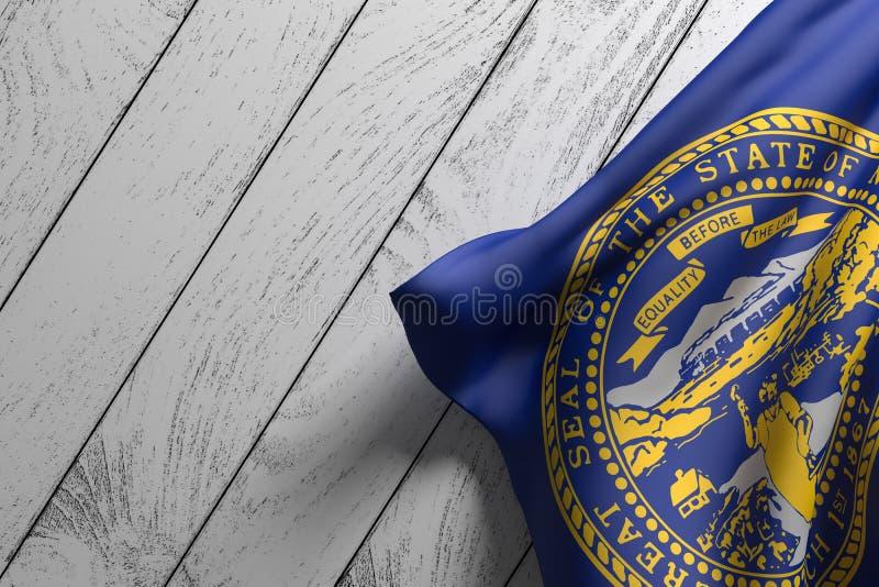 Bandiera dello stato del Nebraska royalty illustrazione gratis