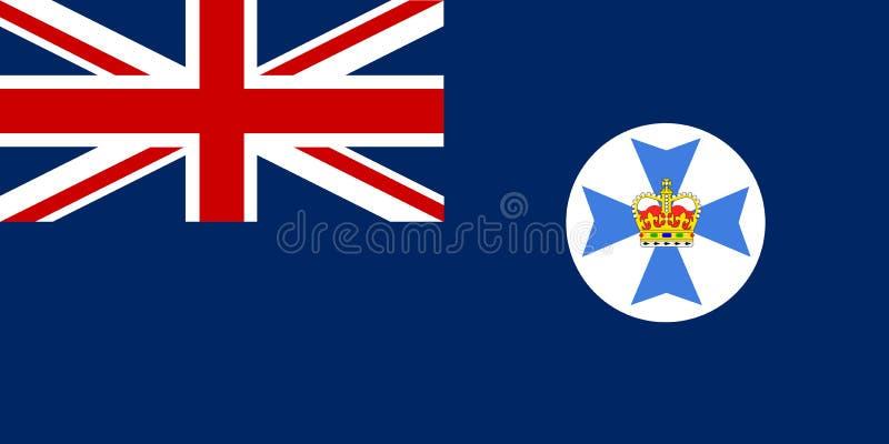 Bandiera dello stato del Queensland royalty illustrazione gratis