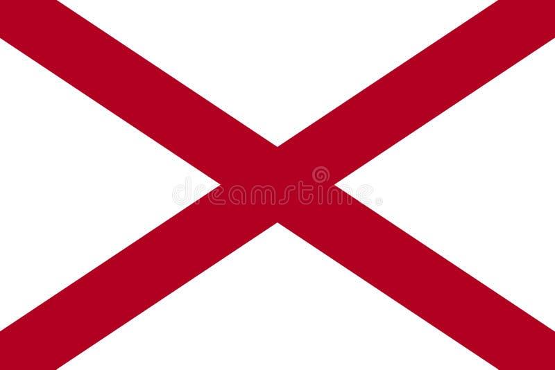 Bandiera dello stato dell'Alabama Gli Stati Uniti d'America jpg royalty illustrazione gratis