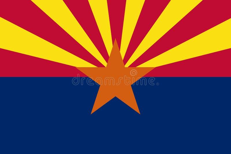 Bandiera dello stato dell'Arizona degli Stati Uniti royalty illustrazione gratis