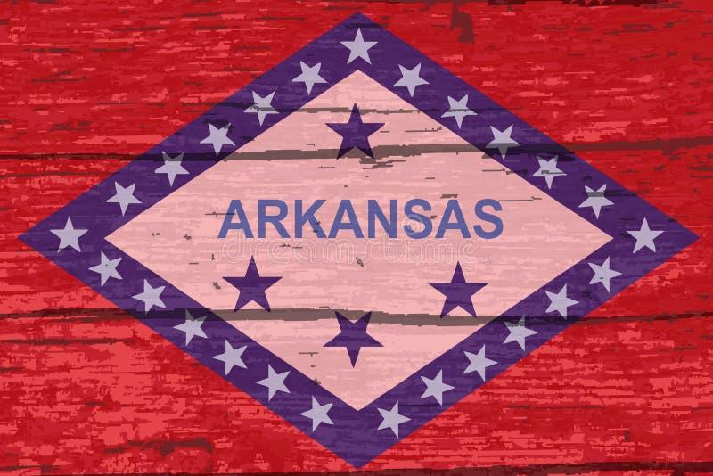 Bandiera dello stato dell'Arkansas su vecchio legname royalty illustrazione gratis