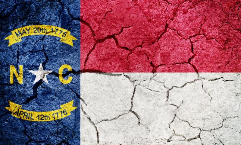 Bandiera dello stato della Nord Carolina immagini stock