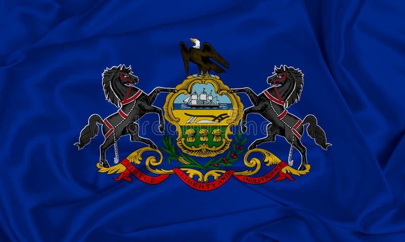 Bandiera dello Stato della Silk Pennsylvania fotografie stock
