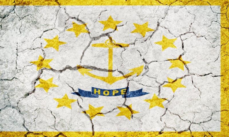 Bandiera dello stato delle piantagioni di provvidenza e di Rhode Island immagini stock libere da diritti