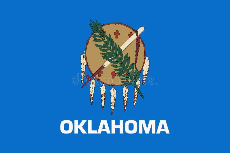 Bandiera dello stato di Oklahoma U.S.A. royalty illustrazione gratis