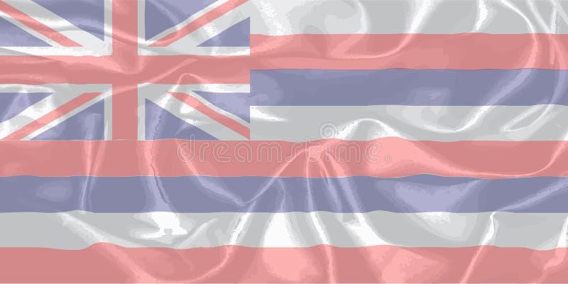 Bandiera dello stato di U.S.A. delle Hawai royalty illustrazione gratis