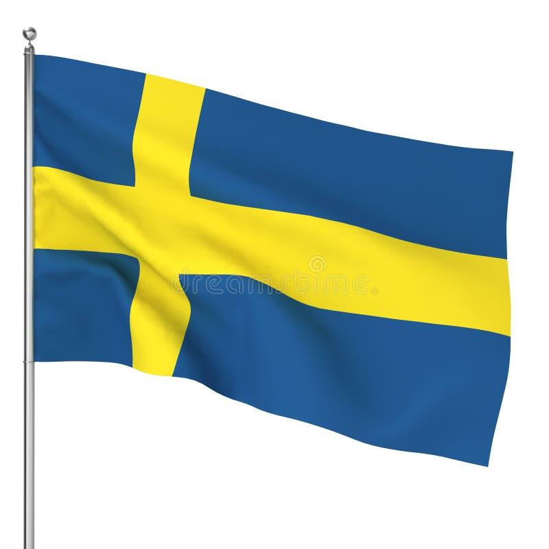 Bandiera dello svedese illustrazione vettoriale