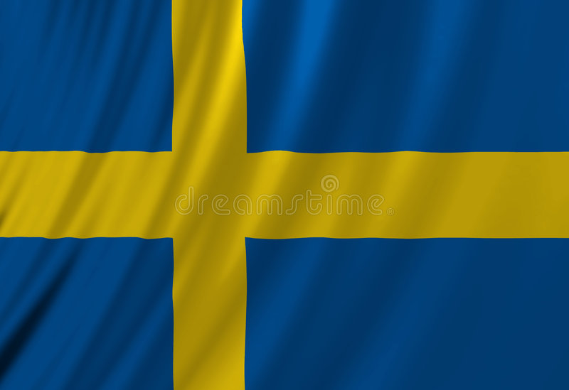 Bandiera dello svedese royalty illustrazione gratis
