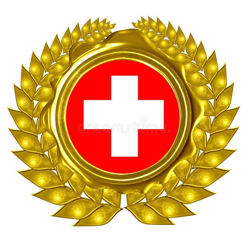 Bandiera dello svizzero illustrazione di stock