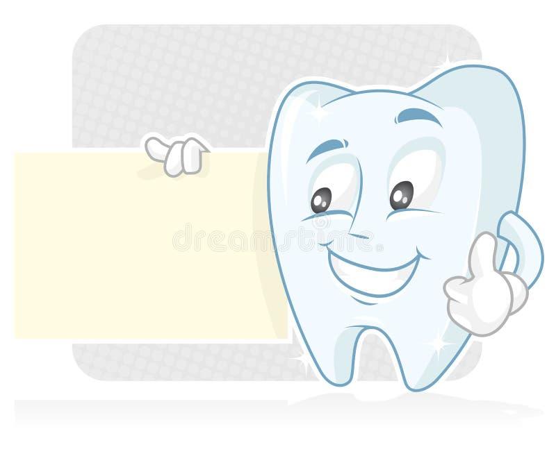 Bandiera dentale illustrazione vettoriale