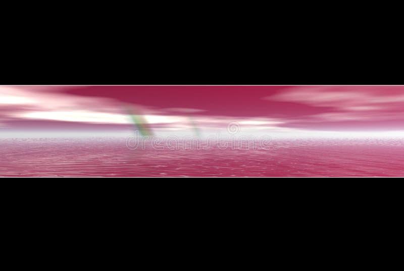 Bandiera dentellare del Rainbow dell'acqua royalty illustrazione gratis