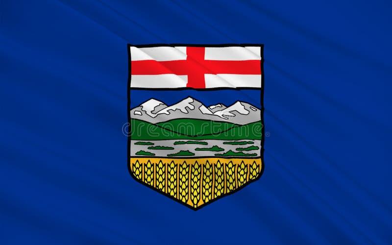 Bandiera di Alberta, Canada royalty illustrazione gratis