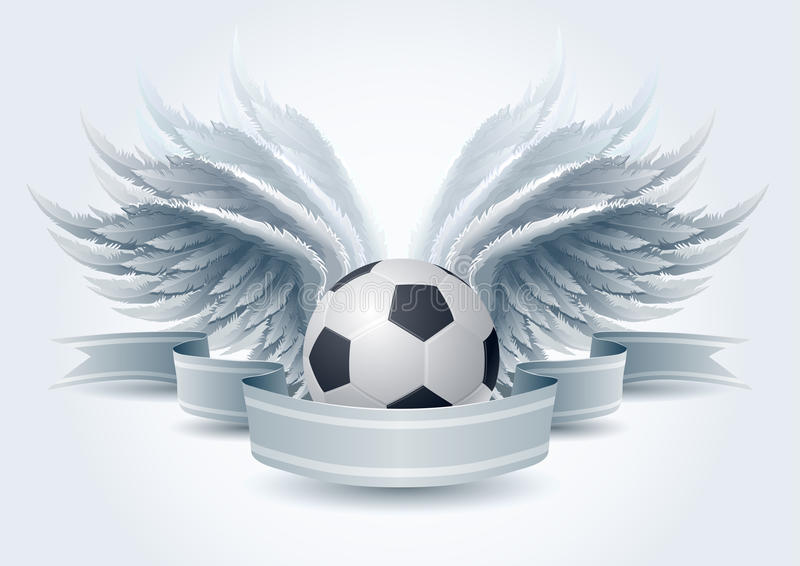Bandiera di angelo di calcio illustrazione di stock