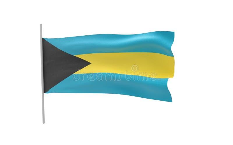 Bandiera di Bahama royalty illustrazione gratis