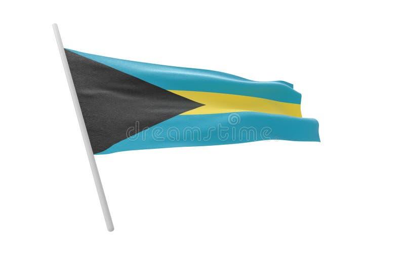 Bandiera di Bahama illustrazione vettoriale