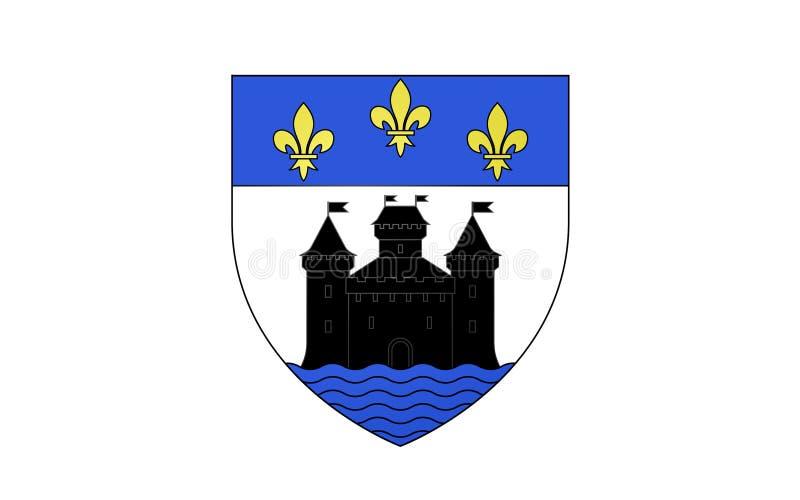 Bandiera di Bellac, Francia illustrazione vettoriale