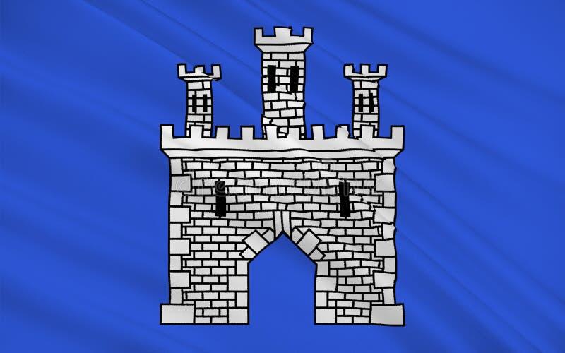 Bandiera di Briancon, Francia royalty illustrazione gratis