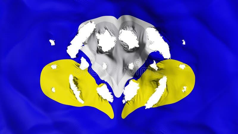 Bandiera di Bruxelles con piccoli fori illustrazione di stock