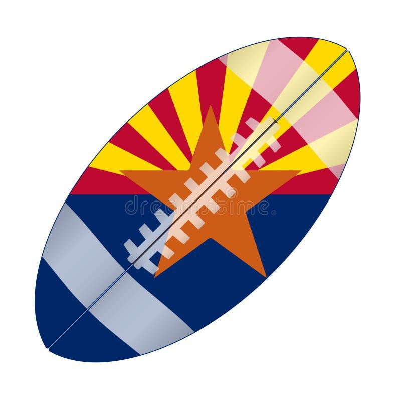 Bandiera di calcio di U.S.A. dello stato dell'Arizona royalty illustrazione gratis