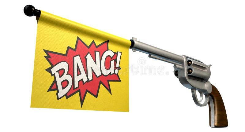 Bandiera di colpo della pistola fotografia stock libera da diritti