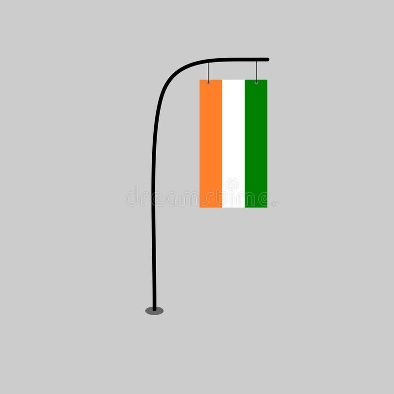 Bandiera di Costa d'Avorio illustrazione di stock