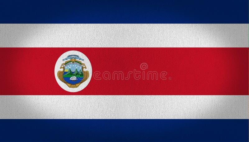 Bandiera di Costa Rica illustrazione vettoriale