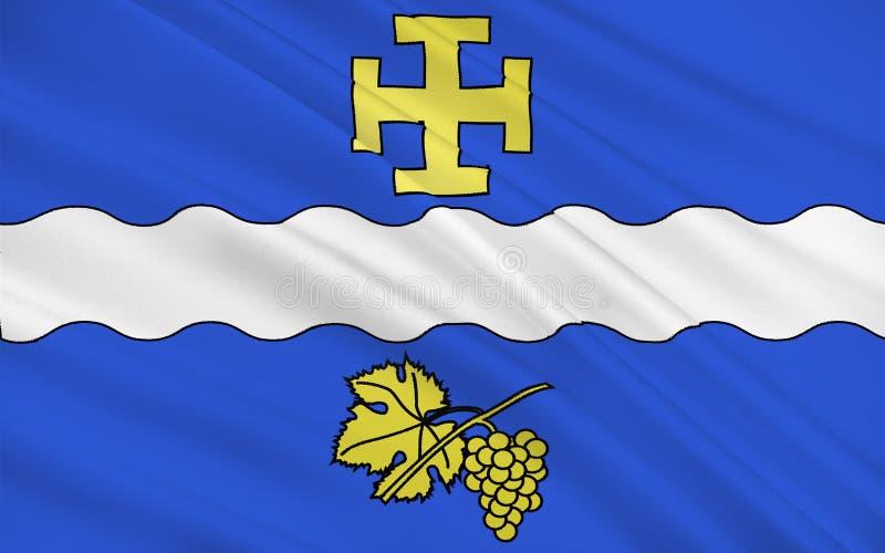 Bandiera di Creteil, Francia immagine stock