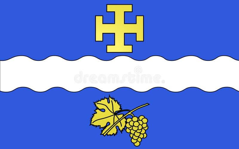 Bandiera di Creteil, Francia illustrazione di stock