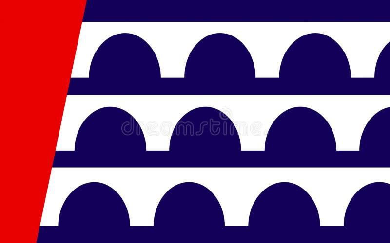 Bandiera di Des Moines nello Iowa, U.S.A. fotografia stock libera da diritti