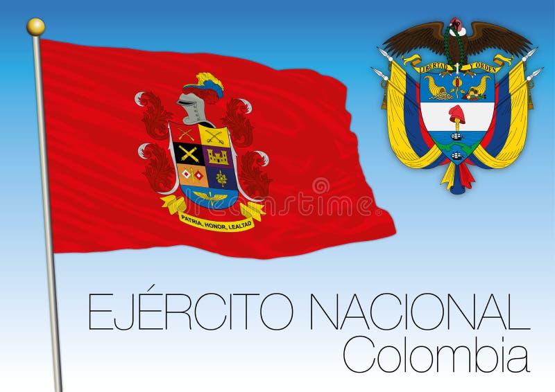 Bandiera di Ejercito Nacional, esercito colombiano illustrazione di stock