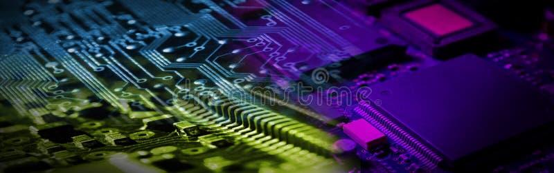 Bandiera di elettronica immagini stock libere da diritti