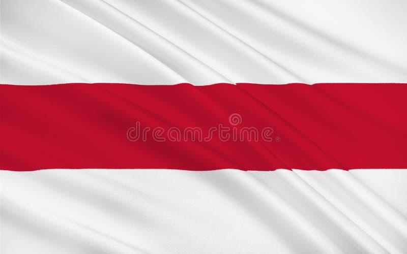 Bandiera di Enschede, Paesi Bassi fotografia stock libera da diritti