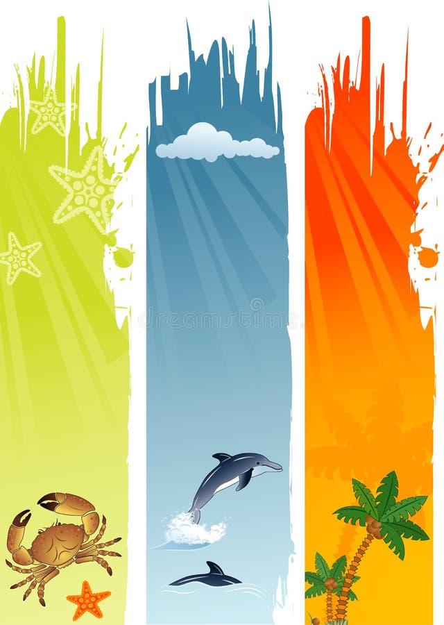 Bandiera di estate illustrazione vettoriale