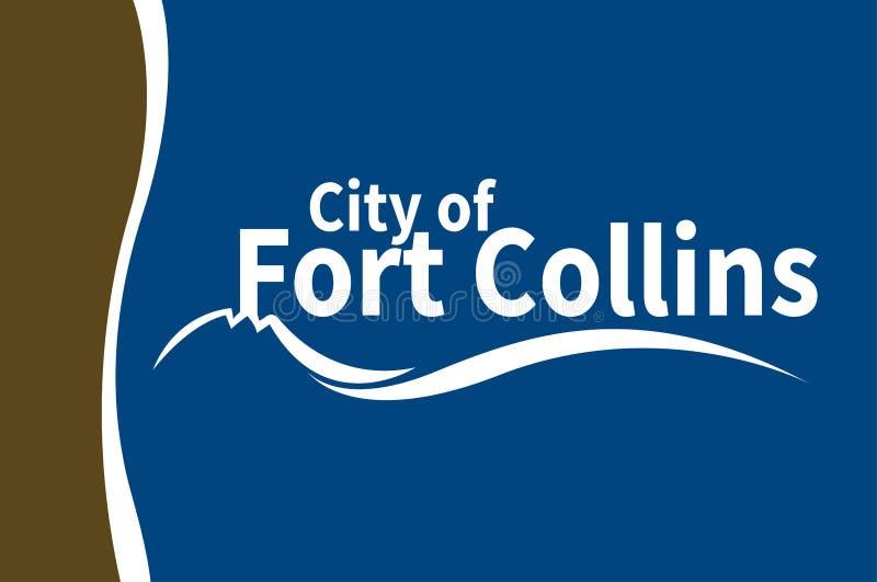Bandiera di Fort Collins in Colorado, Stati Uniti illustrazione di stock
