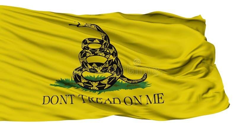 Bandiera di Gadsden, isolata su bianco illustrazione di stock