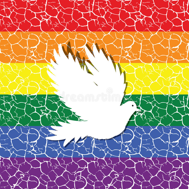 Bandiera di gay pride con un modello piastrellato senza cuciture in vettore illustrazione di stock