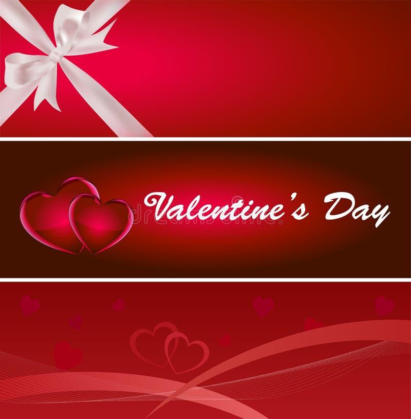 Bandiera di giorno del biglietto di S. Valentino illustrazione vettoriale