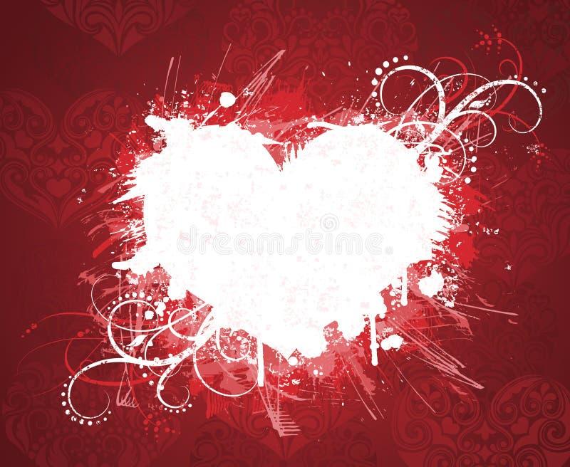Bandiera di giorno del biglietto di S. Valentino di Grunge. illustrazione di stock