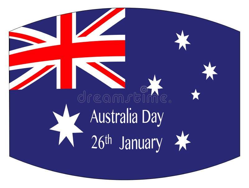 Bandiera di giorno dell'Australia royalty illustrazione gratis