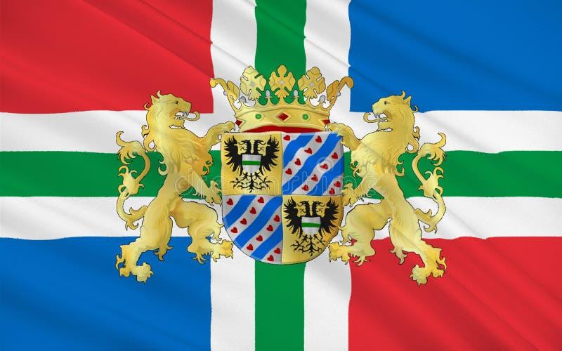 Bandiera di Groninga, Paesi Bassi fotografia stock