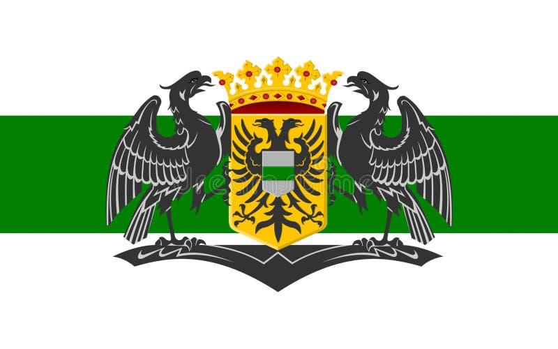 Bandiera di Groninga, Paesi Bassi immagini stock libere da diritti