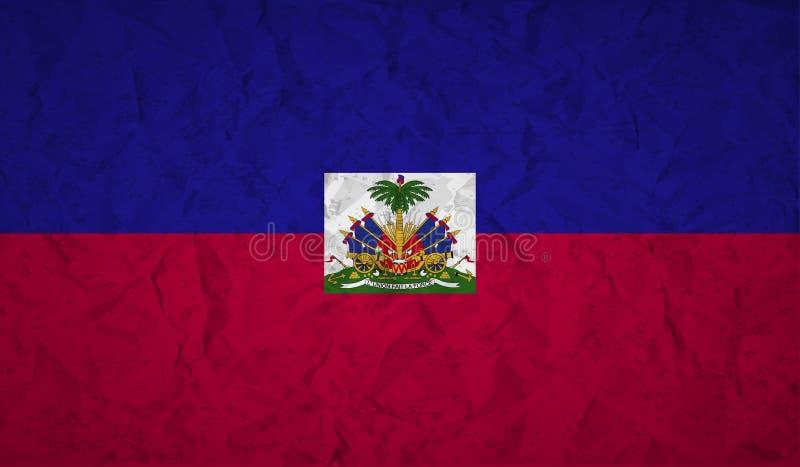 Bandiera di Haiti con l'effetto di carta e del lerciume sgualciti royalty illustrazione gratis