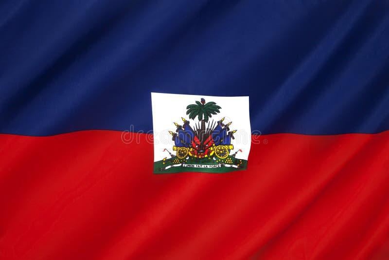 Bandiera di Haiti - i Caraibi fotografia stock