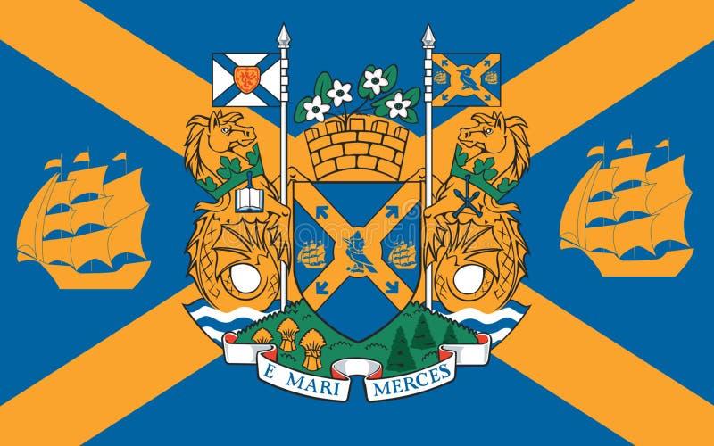 Bandiera di Halifax in nuova Scozia, Canada royalty illustrazione gratis