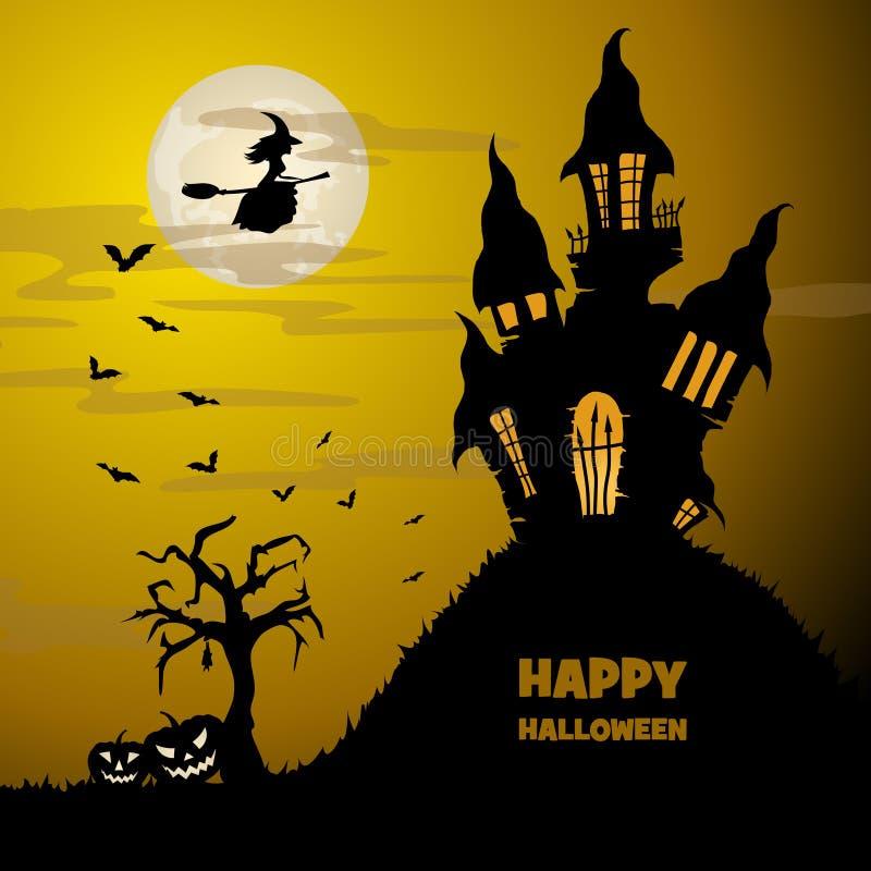 Bandiera di Halloween royalty illustrazione gratis