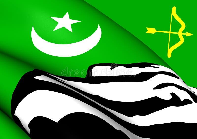 Bandiera di Hunza royalty illustrazione gratis